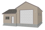 G375 garage with apartment plan