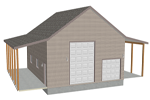 G382 garage with apartment plan