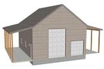 G382 garage with apartment plan