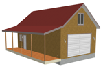 g384 garage with apartment plan