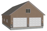 G394 garage with apartment plan