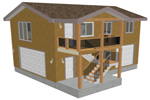 g418 garage with apartment plan
