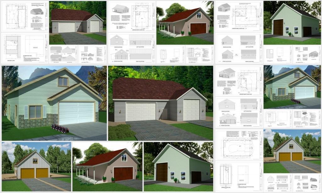 Garage Apartment Plans for building a garage with an overhead