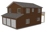 G318 garage with apartment plan