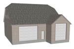 G383 garage with apartment plan