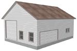 G395 garage with apartment plan