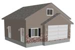 g396 garage with apartment plan