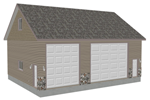 G402 garage with apartment plan