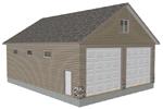 G406 garage with apartment plan