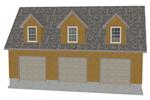 G445 garage with apartment plan