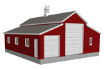 Garage with apartment home for 50 x 60 garage plans