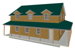 G454 garage with apartment plan