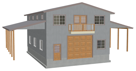 Garage plans with apartments for 40 x 40 apartment plans