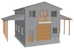 G460 garage with apartment plan