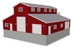 G477 garage with apartment plan